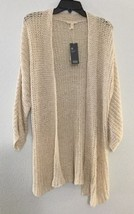 Eileen Fisher Organic Cotton Rib Open Cardigan Sweater Sz M NWT $298 - $109.44