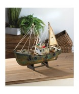 Wooden Fishing Boat Model Fully Assembled - $34.95