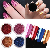 4 Colors Mirror Powder Chrome Effect Pigment Nail Art Accessories For Ge... - $10.60