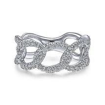 Gabriel & Co 14k White Gold 0.71ct Diamond Fashion Size 6.5 Ring LR51632... - $1,975.05