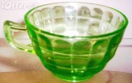 DEPRESSION GLASS--ANCHOR HOCKING BLOCK OPTIC CUP  - $7.95