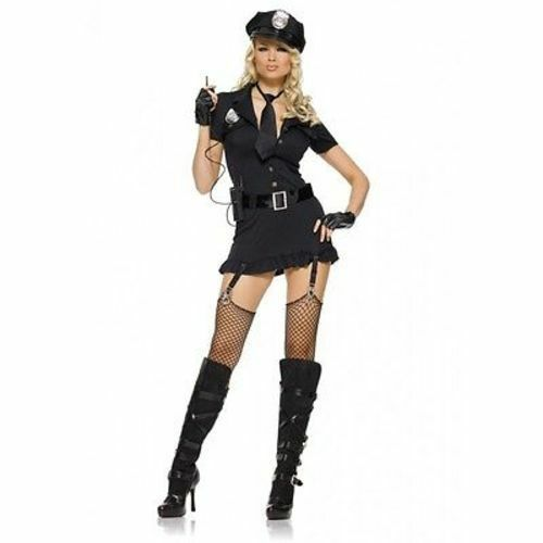 Primary image for Leg Avenue Dirty Cop Sexy Womens Lingerie Halloween Police Cosplay Costume 83344