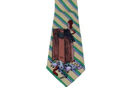 """Nicole Miller Burlesque Silk Tie Backstage Pass Required Theater  55.5"""" Sexy VTG - $19.25"""