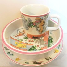 Tiffany Playground Vintage 1992 Set of 3 Cup Bowl Plate Tiffany and Co. - $54.40