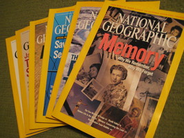 Original Vintage 2007 Lot of 6 NATIONAL GEOGRAPHIC Magazines - $14.43