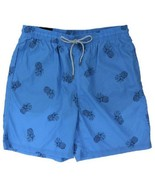 Kirkland Men's Swimsuit Shorts Trunks  Blue Pineapples Sz 2XL - $13.31
