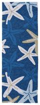 2x6 Tropical Coastal Nautical Starfish Blue Indoor Outdoor Area Rug - €86,31 EUR