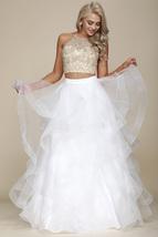 Halter Neckline Prom Gown - $289.00