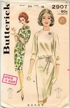Vintage Sewing Pattern Butterick 2907 Women's Dress Size 14 1960's Easy - $13.49