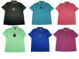 Men's Golf Polo Shirt UV Performance Moisture Wicking Short Sleeve Licensed NEW