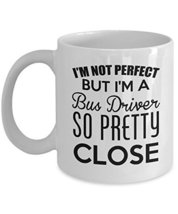 Bus Driver Mug, Cute Gift For Drink Coffee Beer Tea, 11 Oz Ceramic White - $14.95