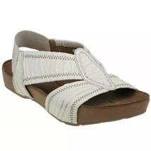 Kalso Earth Shoe Enrapture Cream Microfiber  Sandals Women's Size 11 NIB - $58.99