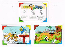 Lot of 3 Disney Pluto Family Portraits SkyBox Trading Cards 163 164 171 - $1.50