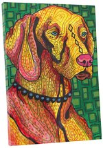 "Pingo World 0708QAT3H3Y ""Heather Galler Vizsla Dog"" Gallery Wrapped Canvas Wall  - $43.51"