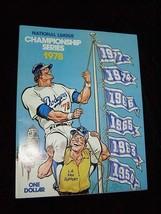 MLB Baseball National League Championship Series Program1978 Los Angeles... - $25.00