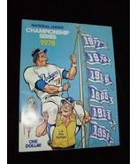 MLB Baseball National League Championship Series Program1978 Los Angeles... - $20.00