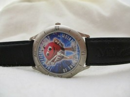 Vintage M&M Watch Limited Edition Black Buckle Band 1998 Mars - $29.00