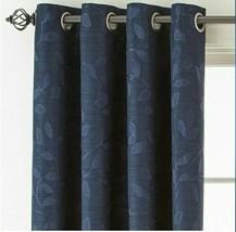 (1) JCPenney JCP Liz Claiborne Quinn Leaf INDIGO Blue Grommet Curtain 50 x 95 - $45.04