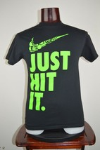 Spencers Nike Swoosh Just Hit It 4:20 Weed Mens S Black Graphic T Shirt - $12.96