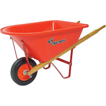 Garden Beautification Tool with Bright Red Plastic Receptacle Single Whe... - $45.99
