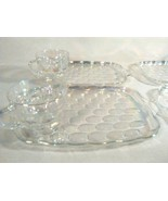 VINTAGE FEDERAL GLASS CO.  RAINBOW GLASSWARE HOSPITALITY SNACK SET PLATT... - $29.95