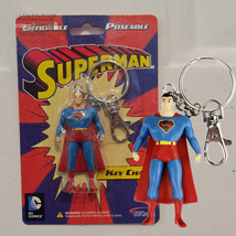 Superman Bendy Keychain Bendable Action Figure DC Comics 1980's Style NJ... - $7.92