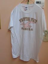 T-Shirt Gildan Dry Blend XL-New Smyrna Beach Florida On Front-Pants-Skir... - $7.99