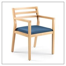 Steelcase Sawyer Wood Guest Chair by Steelcase, Fabric = Sky; Finish = Clear Map - $403.00