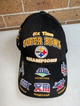 Pittsburgh Steelers Reebok Six Time Super Bowl Champions Embroidered NFL... - £25.07 GBP