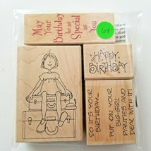 Hero Arts Birthday Girl Assorted Stamps, EUC 4 Stamps - $12.16