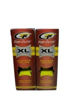 New Top Flite XL Distance Golf Balls, Yellow, Highly Visible, 2 Packages... - $19.39