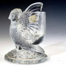 Vintage Westmoreland Glass Owl Toothpick Holder with label image 5