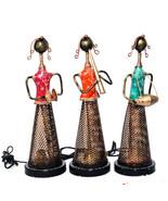 Set of 3 Musician Lady Tea Light Holder Decorative for Home Living Room ... - $87.95