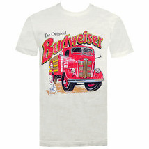 Budweiser Vintage Firetruck Off-White Tee Shirt Off White - $29.98+
