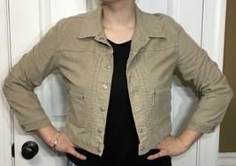 Women's Corduroy Jacket Levi's San Francisco Beige Taupe Trucker style. ... - $21.78