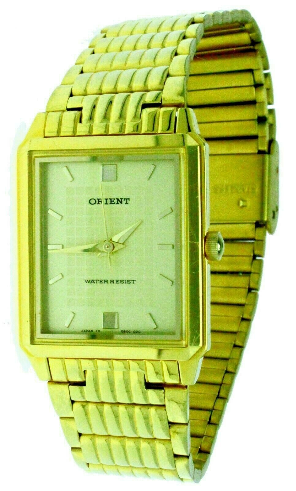 Primary image for New Thine ORIENT Stainless Steel Gold Tone Band, Case & Dial Watch Water Resist