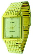 New Thine ORIENT Stainless Steel Gold Tone Band, Case & Dial Watch Water... - $56.09