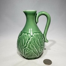 Bordallo Pinheiro Portugal Green Leaf Oil or Vinegar Cruet Pre-Owned Two... - $6.00