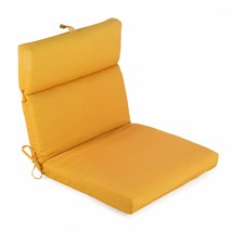 "Tangerine Orange Outdoor Patio Chair Cushion Pad Hinged Seat Back 44"" L ... - $75.73"