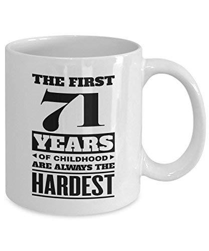 Primary image for BirthdayMugs - The First 71Years of Childood Coffee Mugs - Novelty 71st Birthday