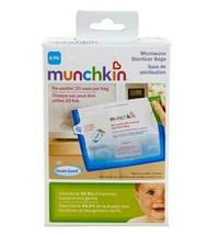 Munchkin Microwave Sterilizer Bags 6 Pack Kills 99.9% Germs Reusable - $10.88