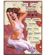 ACEO ATC Art Collage Original Pin Up Image Women Ladies Wear Cute Pajama... - $5.00