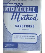 Rubank Intermediate Method Saxophone, a Follow Up Course for Individual ... - $2.97
