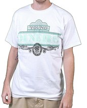 Raza Mens White or Yellow Young Dinero Fu$k the System US President T-Shirt NWT image 1