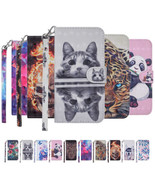 PU Leather Hand Strap Wallet Magnetic Case & Stand Cover for Huawei Y5 Y... - $7.99