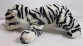 "2003 Ty Classic Streaks White Tiger Cat 13"" Plush Stuffed Animal EUC - $15.98"