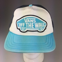 Vintage Vans Off the Wall Trucker Style Hat Cap Worn Distresed  Small to Medium - $16.82