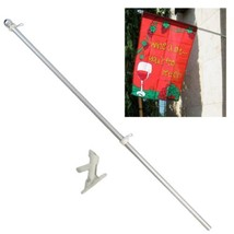 ALBATROS 5ft Aluminum Flag Pole Flagpole Poke Kit with Bracket for Home ... - $42.79