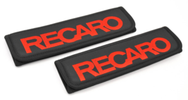 RECARO seat belt covers Leather shoulder pads Interior Accessories with emblem - $35.00