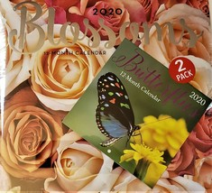 2020 Calendar Blossoms Butterflies Pack 12 Month New Sealed Wall & Mini ... - $12.19